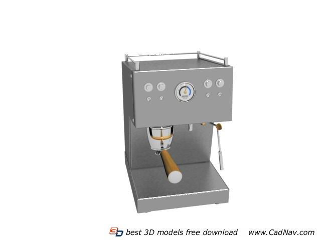 Ice cream machine 3d rendering