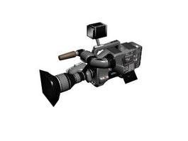 Digital video camera 3d model preview