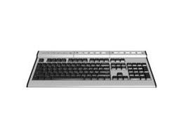 Multimedia keyboard 3d model preview