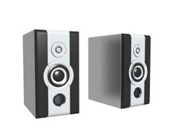 Sound speaker box 3d model preview