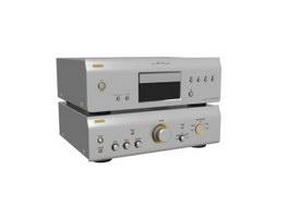 Professional power amplifier 3d model preview