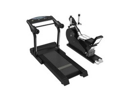 Running machine and treadmill 3d preview