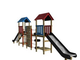 Kids playground equipment 3d preview