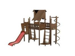 Children playground equipment 3d model preview