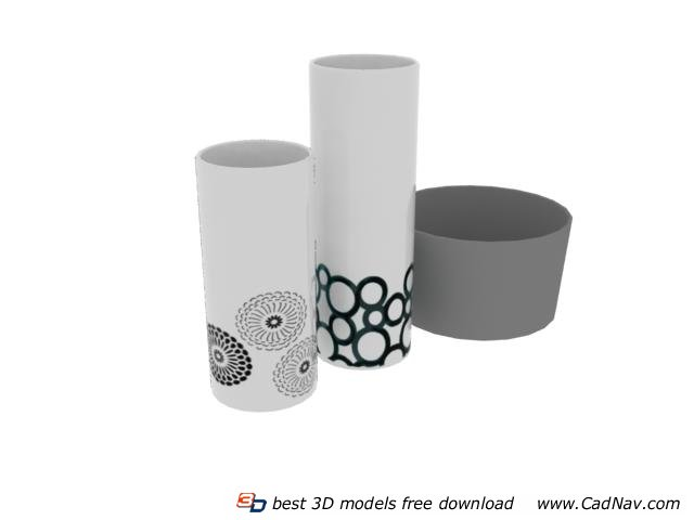 Decaled porcelain cup 3d rendering