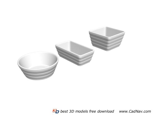 Ceramic Soup Tureen Sets 3d rendering