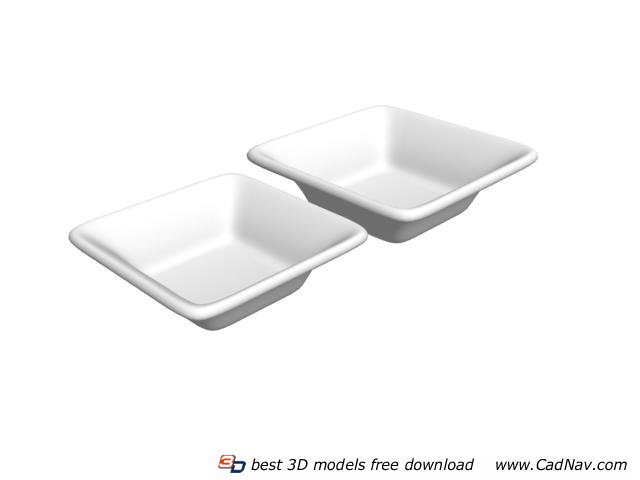 Ceramic dessert plate 3d rendering