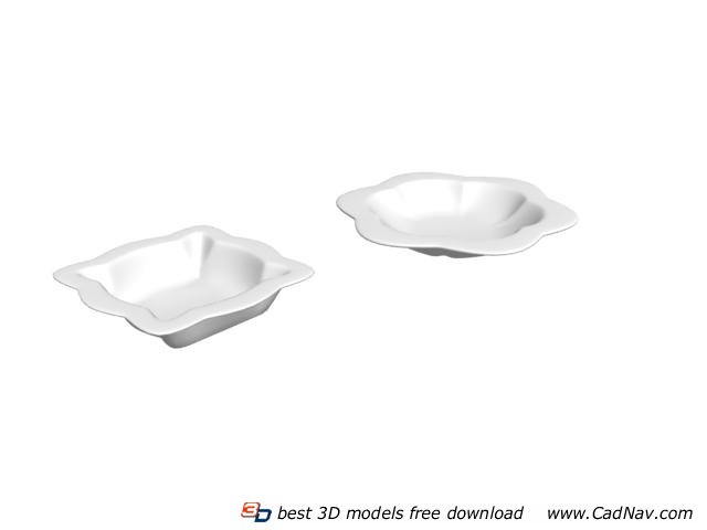 Restaurant pastry dish plate 3d rendering