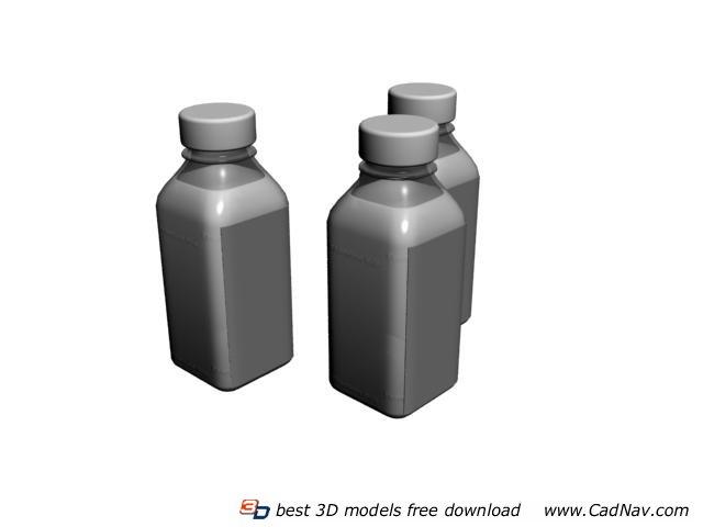 Plastic beverage bottles 3d rendering
