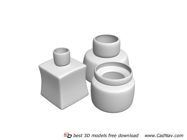 Ceramic pot creamer Pot 3d rendering