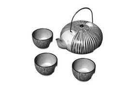 Tableware ceramic tea set 3d preview