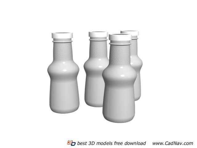 Plastic storage bottle 3d rendering