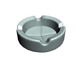 Cigar ceramic ashtray 3d preview