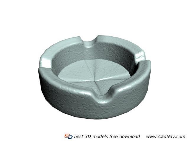 Cigar ceramic ashtray 3d rendering