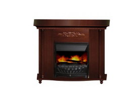 Wood burning fireplace 3d model preview