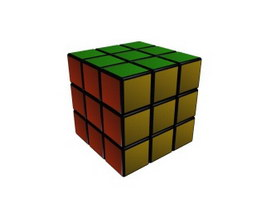 Plastic magic cube 3d preview