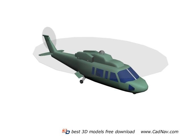 RC Toy Helicopter 3d rendering