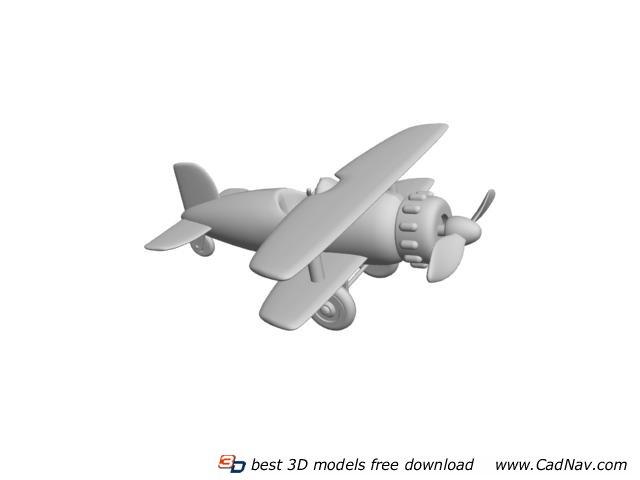 Plastic Toy Plane 3d rendering