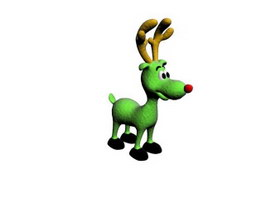 Christmas stuffed deer toy 3d preview