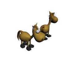 Baby toy cartoon stuffed horse toy 3d preview