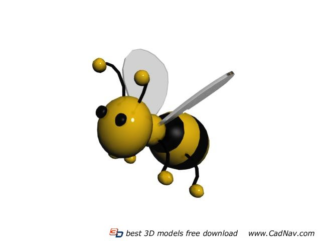 Inflatable Cartoon Toys Bee 3d rendering