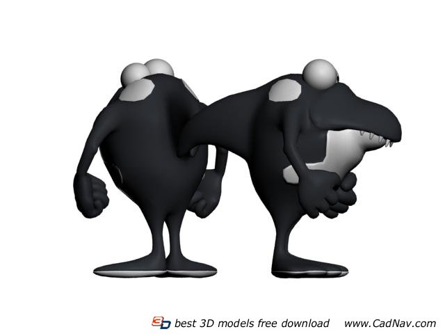 Sea Animal Killer Whale Toy 3d rendering