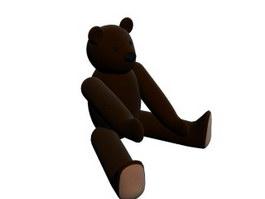 Plush cute bear toy 3d preview