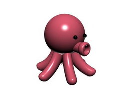 Cartoon soft toy octopus 3d preview