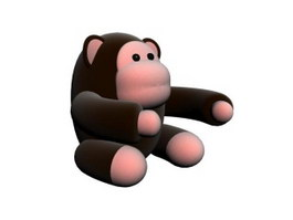 Animal stuffed toy orangutan 3d preview