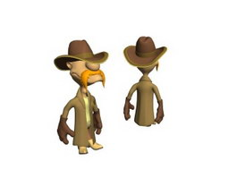 Cartoon Plastic Man Doll 3d preview