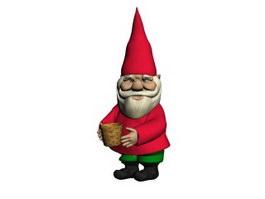 Christmas santa clause figurine 3d preview