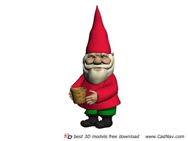 Christmas santa clause figurine 3d rendering