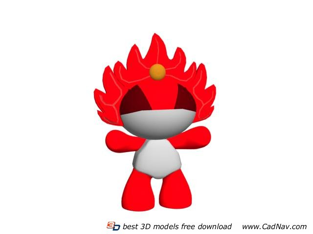 2008 Olympic Mascot Toys 3d rendering