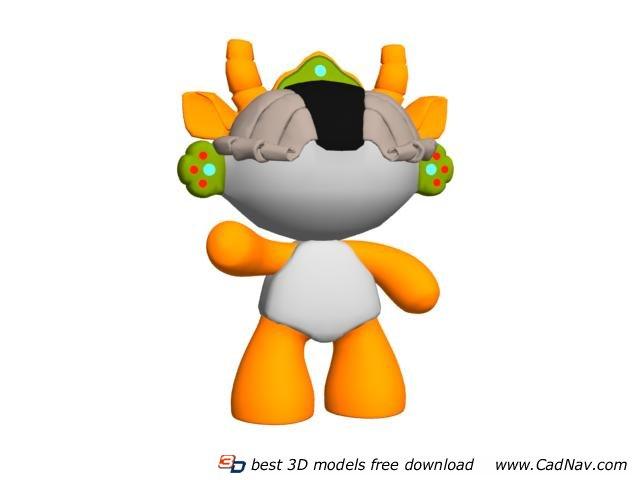 Cartoon Toys Beijing Olympic Mascot 3d rendering