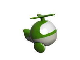 Plastic cartoon helicopter 3d preview