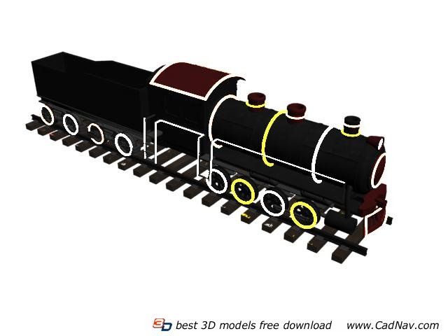 Toy trains for kids 3d rendering