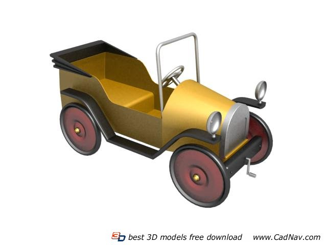 Old American cars toy car 3d rendering