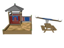 Sand place outdoor playground 3d model preview