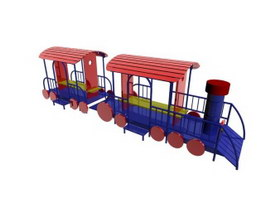 Outdoor Playground Structure 3d model preview