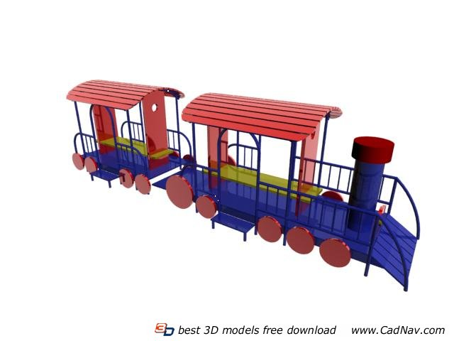 Outdoor Playground Structure 3d rendering