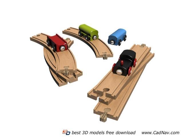 Kids slot car toy 3d rendering