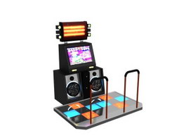Dancing music game machine station 3d preview