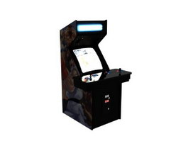 Arcade video game machine 3d preview