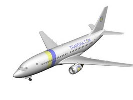 Transavia Airlines Airliner 3d model preview