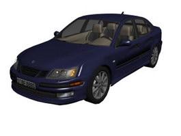 Saab 9-5 3d model preview