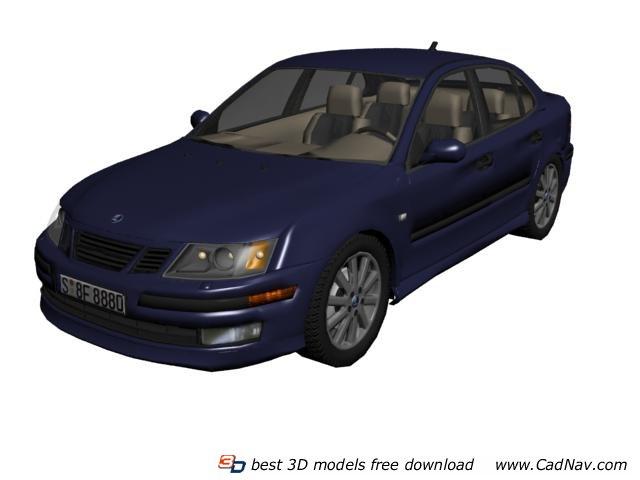 Saab 9-5 3d rendering
