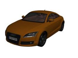 Audi TT coupe 3d model preview