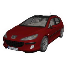 Peugeot 407 3d model preview