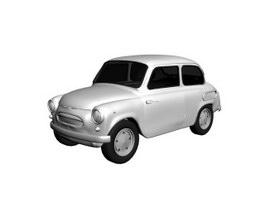 Plastic mini car toy 3d preview