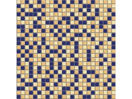 Blue and orange mixed mosaic pattern texture